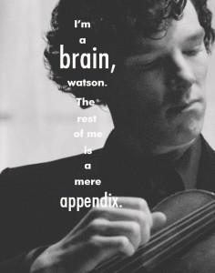 Sherlock Holmes tenkte best når han spilte fiolin. Her fremstilt av Benedict Cumberbatch.